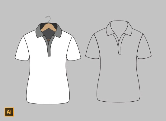 Vector polo shirt mockup ai pixelmental for Free polo shirt mockup